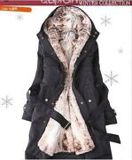 Women Winter Coat with Faux Fur