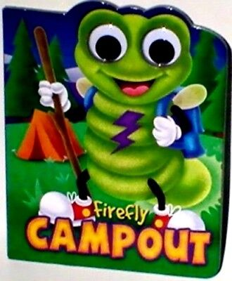 FIREFLY, INSECT MOVEABLE GOOGLY EYES,Board BOOKS, Boys Girls English NEW ~Cute~ - Firefly Insect