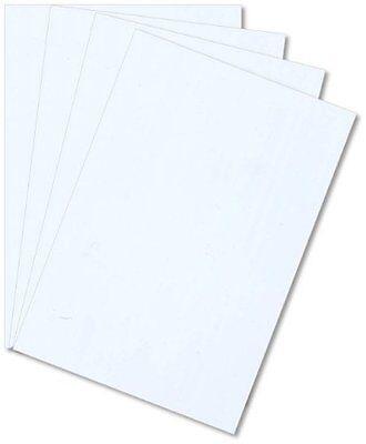White Styrene Polystyrene Plastic Sheet .020 Thick 12 X 12