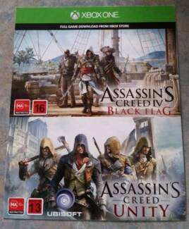 2 X XBOX ONE ASSASSINS CREED GAMES Birkdale Redland Area Preview