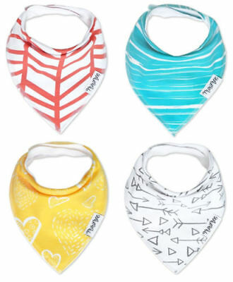 4 NEW Minimee Baby Bandana Drool Bibs with Snaps 100% Organic Cotton Burp Cloth