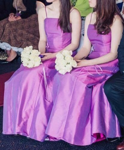 2 X Emily Fox Purple Bridesmaid Prom Formal Dresses Size 8 Polyester Nylon