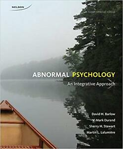 Abnormal Psychology: An Integrative Approach Hardcover