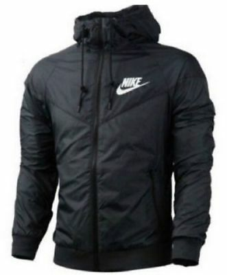 Nike Mens - Jacket - Outdoor - Sports - Casual - Black - Hooded - Waterproof