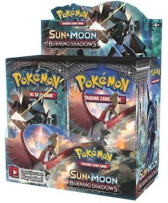 Pokemon Tcg Sun   Moon Burning Shadows Booster Sealed Box English   In Stock