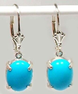 Turquoise Earrings 5ct+ Antique 18thC Persia Ancient Aztec Chalchihuitl God Gem