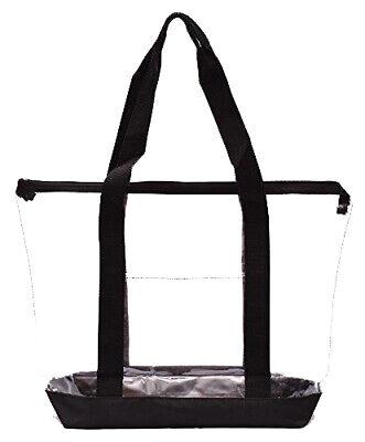 Clear Tote Bag Plastic Transparent Purse Handbag Zipper Security Event Stadium Clear Zipper Bag