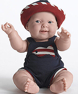 Berenguer Doll Summer Lucas Real Boy Navy Outfit w/Hat 14 inch all vinyl NEW
