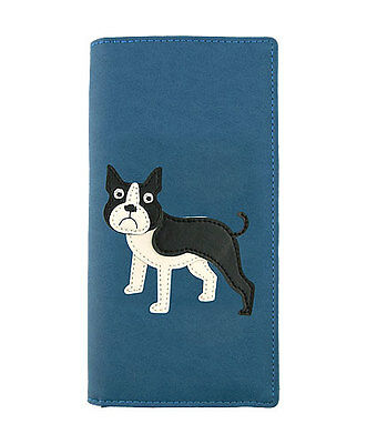 Buy cheap LAVISHY Checkbook Wallet FRENCH BULLDOG Vegan Leather PUPPY DOG Frenchie BLUE products