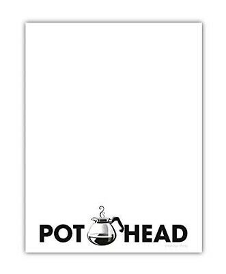 Pot Head Memo Notepad - Funny Office Supplies Coworker Gift 4.25 X 5.5 Inch