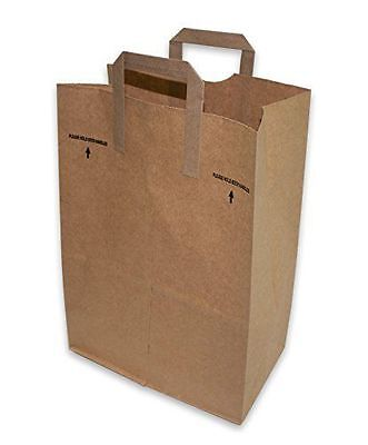 75 count 12 x 7 x 17 Brown Kraft Paper Handle Grocery Shopping Bag ()