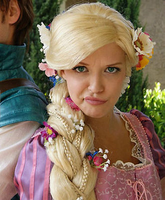Fashion Cosplay WIG Rapunzel Custom Styled Wig Super Bold Wigs + wig Cap New