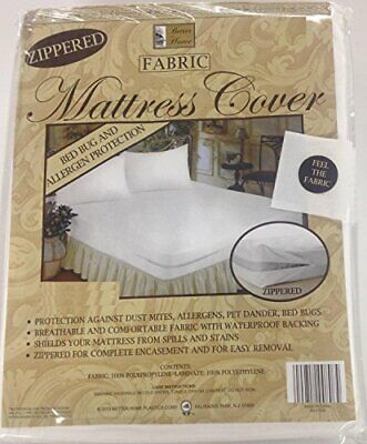 Better Home Zippered Fabric Mattress Cover, Protects Against Bed Bugs (Best Hypoallergenic Mattress Cover)