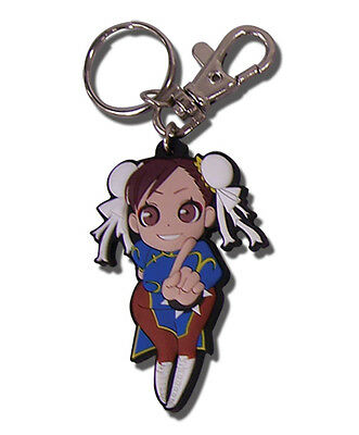 **Legit** Street Fighter IV Authentic Anime PVC Keychain SD Chun Li #36655