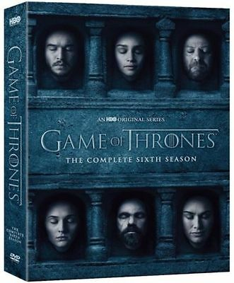 Game Of Thrones  6 The Complete 6Th Season 6  Dvd  New  Free Shipping