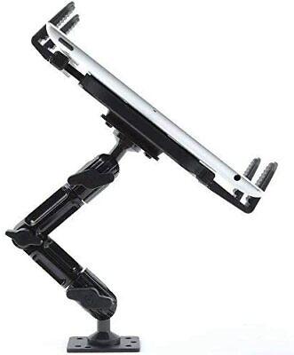 "Industrial Metal Drill Base Tablet ELD Mount Holder, wall, truck iPad Pro 12.9"""