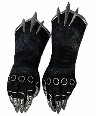 Mens Black Claw Gloves Cosplay Adult Cool Costume Halloween Fancy Dress Accessor