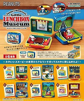 Peanuts Snoopy & Woodstock Little Lunch Box Museum Full set of 6 Re-Ment