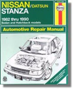 Haynes for Nissan Stanza 1982 to 1990