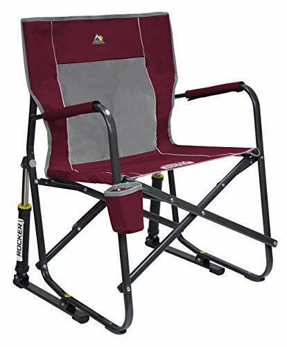 GCI Outdoor Freestyle Rocker Portable Folding Rocking Chair, Cinnamon