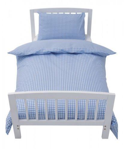 Blue Gingham Cot Bedding Ebay
