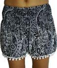 Rayon High Waist Shorts for Women