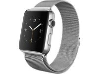 Apple - Apple Watch 42mm Stainless Steel Case - Milanese Loop