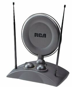 RCA ANT1250 UHF/VHF Amplified indoor TV Antenna