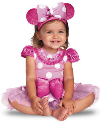 Disney Baby Girl's Minnie Mouse Halloween Infant Costume Pink  Sz 6-12 mo - Baby Girl Disney Halloween Costumes