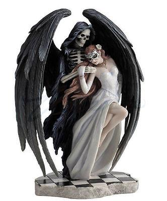 """9.5"""" Anne Stokes Dance With Death Figurine Santa Muerte Grim Reaper Statue"""