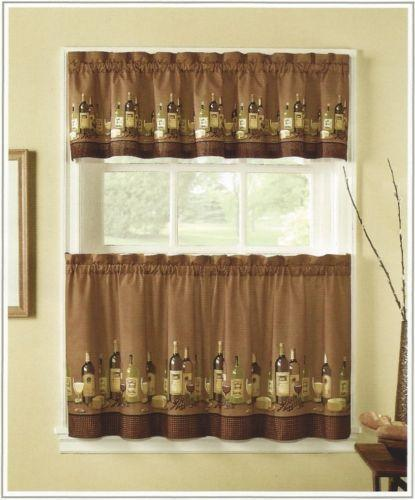 Wine Kitchen Curtains