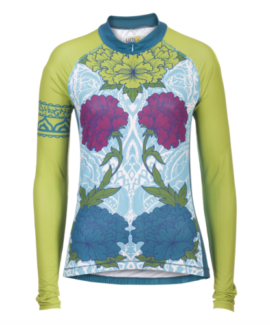 CYCLING JERSEY - GARDEN HENNA DESIGN - NEW WITH TAGS - SIZE SMALL