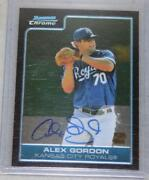 Alex Gordon Bowman Chrome Auto