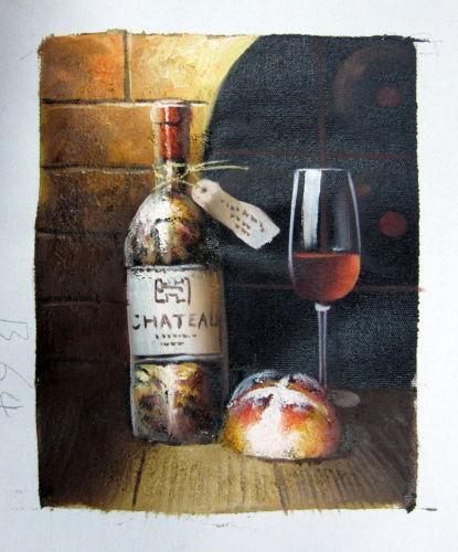 Wine Bottle Oil Painting Ebay
