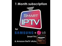 Iptv 1 Month Subscription Smart Iptv,Android,Mag Box Buy Once Buy Right