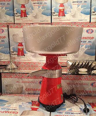 Milk Cream Electric Centrifugal Separator Full Metal 100lh New Eng Manual