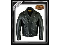 MENS BRANDO STYLE 100% REAL COWHIDE LEATHER JACKET