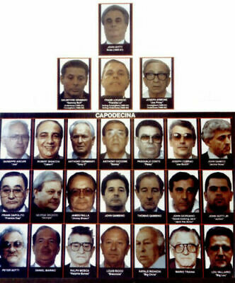 JOHN GOTTI 8.5X11 PHOTO PICTURE MAFIA FAMILY CHART TREE MOBSTER GANGSTER WANTED