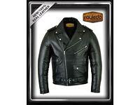 Oculia Branded Atalian Perfecto Brando Motorbike Leather Jacket