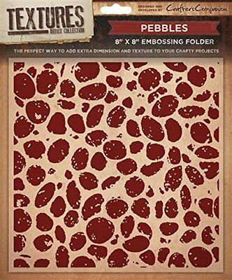 "Crafter's Companion Textures 8""x8"" Embossing Folder - Pebbles"