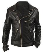 Womens Vintage Leather Biker Jacket