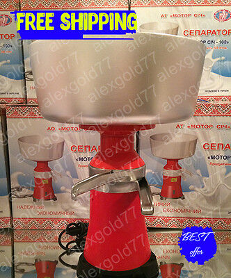 New Milk Cream Electric Centrifugal Separator Metal 100lh Eng Manual