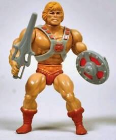 WANTED vintage he man Thundercats wwf toys etc