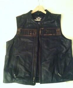Harley Davidson Mens Leather Vest