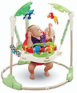 Fisher Price rainforest jumperoo baby bouncer activity centre