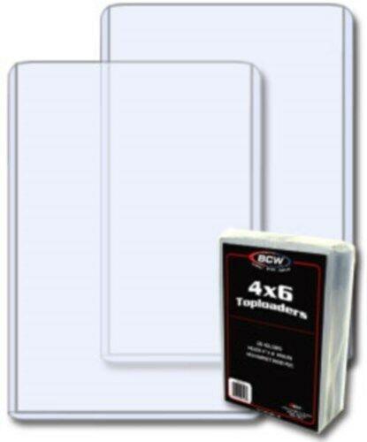 Купить 100 BCW 4 x 6 Hard Plastic Postcard / Photo Topload Holders 4x6 rigid protectors