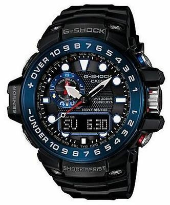 Casio Mn G-Shock Gulfmaster Triple Sensor Smart Access Blk/Blu Watch GWN1000B-1B for sale  USA