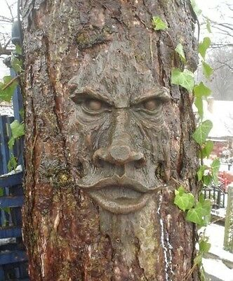 Tree Face Sculpture Art Decor Yard Garden Plaque Outdoor Forest Enchanted NEW