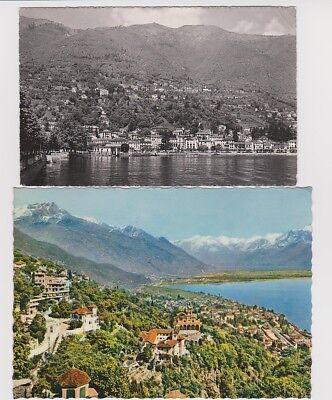 SWITZERLAND Two LOCARNO (1 RPPC) (1) Madonna del Sasso