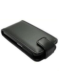 Black Leather Flip Case for Sony Ericsson Xperia Mini Pro 2 II SK17i phone cover